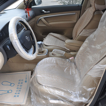 Disposable Plastic Automotive Car Seat Cover Hdpe Material