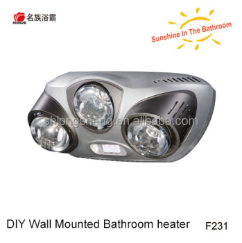 Brand New Mingzu Infrared Heat Lamp Wall Mounted Bathroom Ceramic Heater Heaters