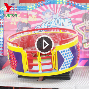 Children Thrilling Park Kids Musical Mini Turntable Disco Tagada Ride For Sale