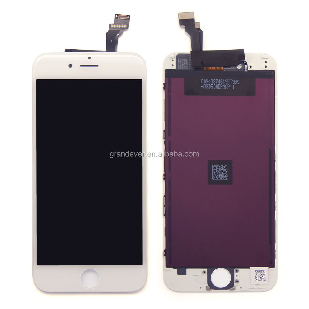 High copy OEM AAA+ quality white touch digitizer mobile phone lcd screen for <strong>iphone</strong> 6