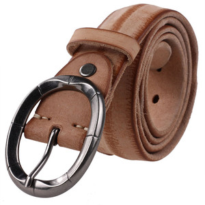 Casual Oval Buckle Camel Soft Pure Leather Belts Replica Designer Belts for Men