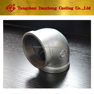 "Galvanized steel cast iron 2"" gi female thread equal 90 degree square tube connector Elbow joint pipe fittings price list"
