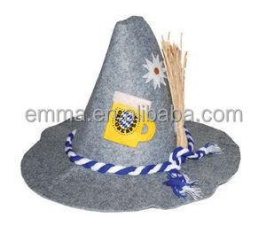 Hot sale beer German Oktoberfest Bavarian felt hat for carnival HT20163 760a8643497d