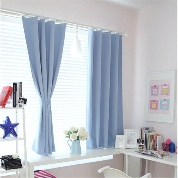 couleur unie moderne rideaux occultants pour le salon chambre personnalis e fen tre court. Black Bedroom Furniture Sets. Home Design Ideas