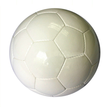 Blanc PU cousu main ballon de football