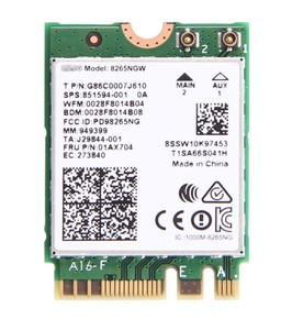 New 8265NGW AC Dual Band Intel Wireless-AC 8265 NGFF 867Mbps WIFI MU-MIMO  802 11ac Wi-Fi+Bluetooth 4 2 Card For Windows 7/8/10