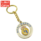 Keychain Gifts Factory Custom Metal Soccer Spinner Key Chain, Gold Crown Keychain