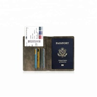 Premium custom logo folding passport card holder Multifunctional Travel Document Package Ticket Protector Case