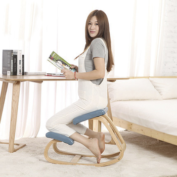 correcting siting position ergonomic kneeling chair with weight limit 150kg wooden kneeling chair