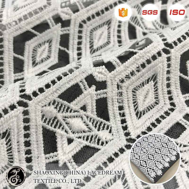 2017 china wholesale london fabric embroidery lace for woman dress