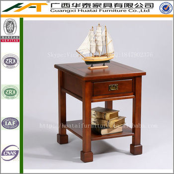 Chinese Style Retro End Table,simple Tall Side Table Furniture