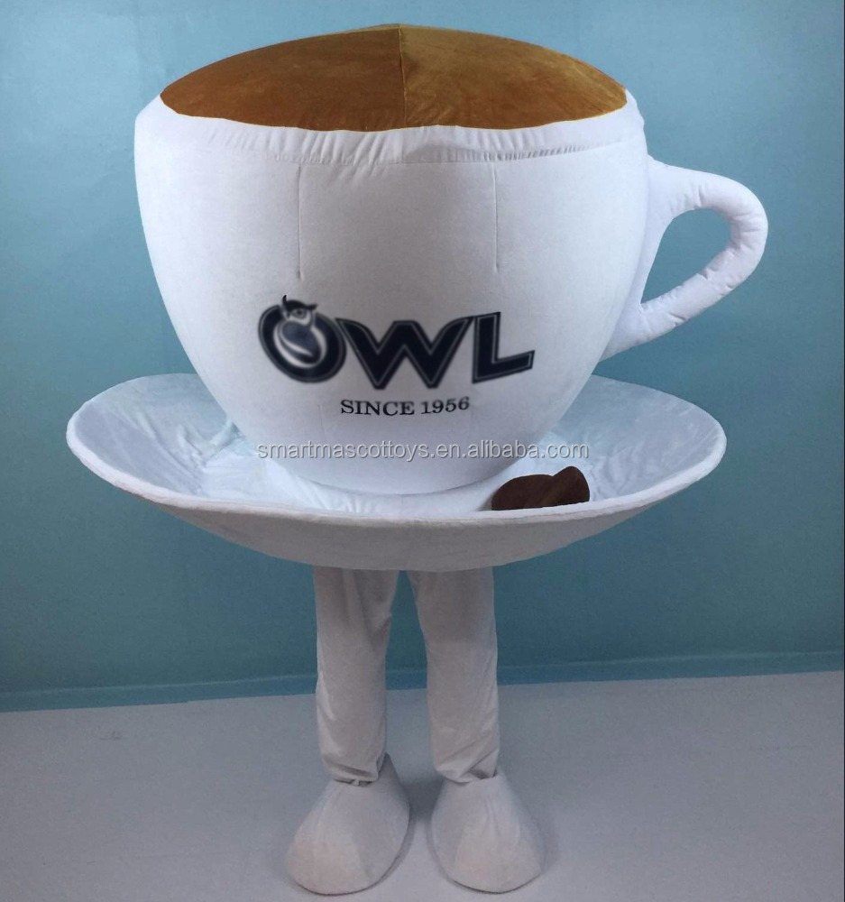 different designs coffee cup mascot costume for promotion adult cup costume