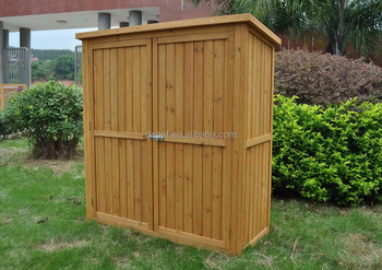 DXGH017 Outdoor Wooden Garden Tool Storage Box Shed Cabinet