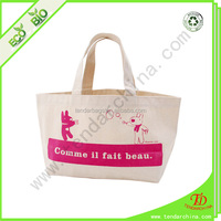 For shopping or travel carry wholesale 100% cotton shopping bag