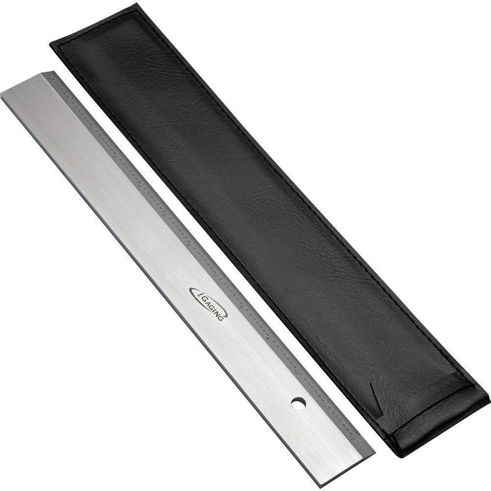 "12"" iGaging Precision Straight Edge with Ruler (36-012-KS)"