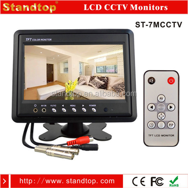 "7"" Colour CCTV LCD Monitor Flush Mount With Headrest Frame"