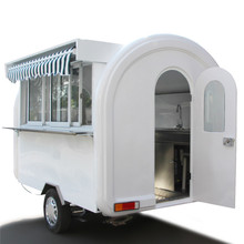 2017 latest fiber glass with customized inside food truck trailer