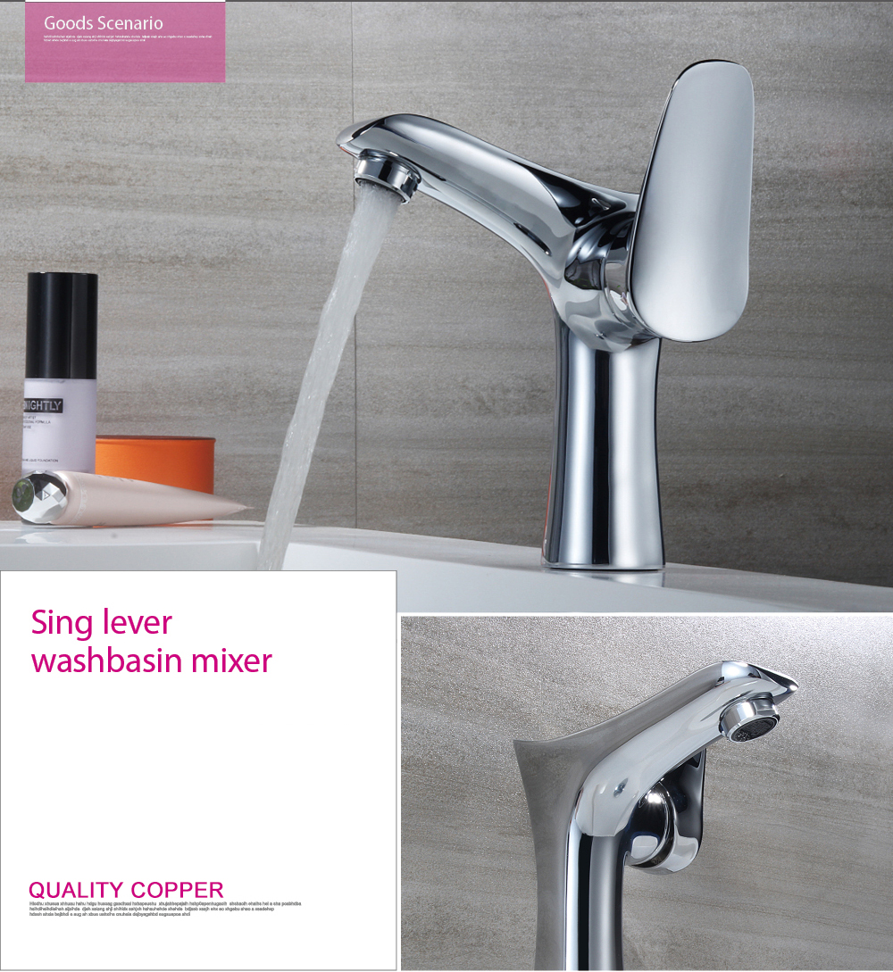 Factory direct hot and cold water faucet single handle brass basin faucet