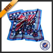 100% Custom Printed Twill Silk Scarf For Wholesale