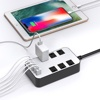 Eco Friendly Aluminum Multi 5 Usb 6 Outlet Surge Protector Smart Power Strip Universal Socket