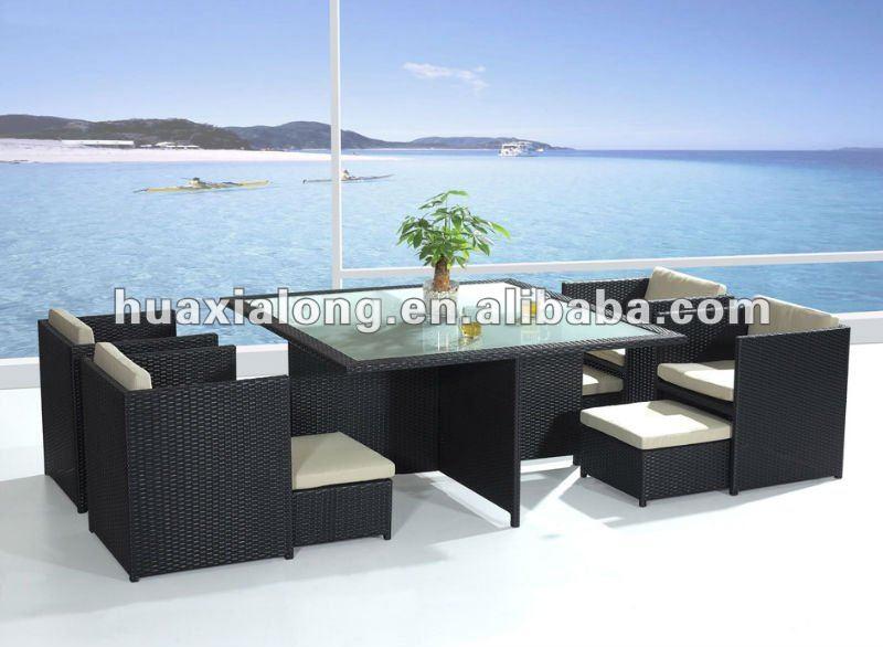 modernen hei er verkauf vegas im freien pe rattan cube esstisch m bel set im garten produkt id. Black Bedroom Furniture Sets. Home Design Ideas