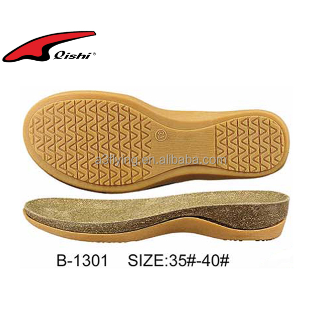 Cork and rubber material shoe sole cork sandal sole material