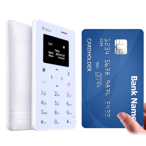 iNew Mini 1 Ultrathin Card Phone 0.96 inch Screen Single Micro SIM, Bluetooth