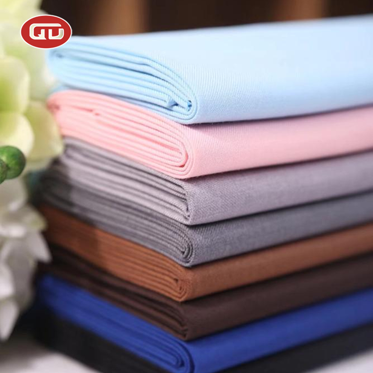 Ready goods twill style customized polyester viscose Toyobo <strong>fabric</strong> for Indonesia ladys