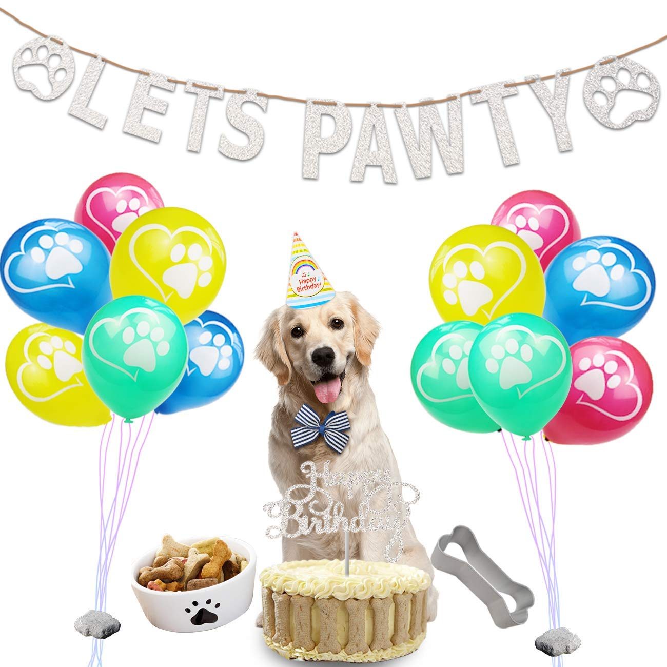 Get Quotations Dog Birthday Party Supplies Gift Kit