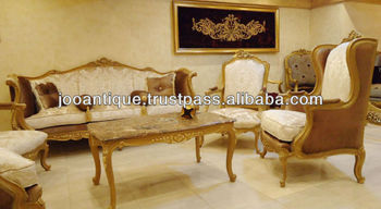 Louis Xv Antique Sofa Set - Buy Louis Xv Salon Set,European Carved ...