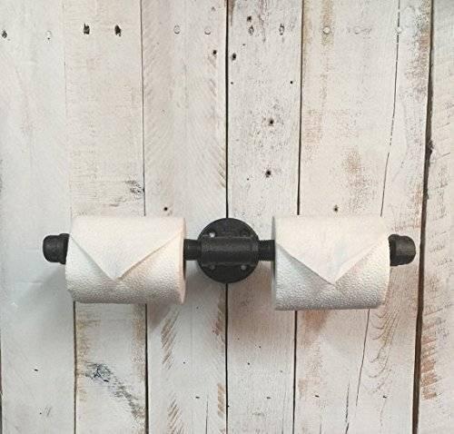 Black toilet roll holder, toilet paper holder, brushed nickel toilet paper holder, TP holder, industrial décor, industrial toilet paper