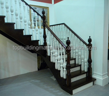 White and black staircase duplex staircase solid wood staircase