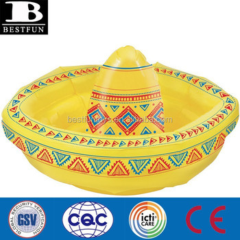 giant inflatable sombreros cowboy hat cooler plastic beer party ice bucket  for sale d7bdd2327d39