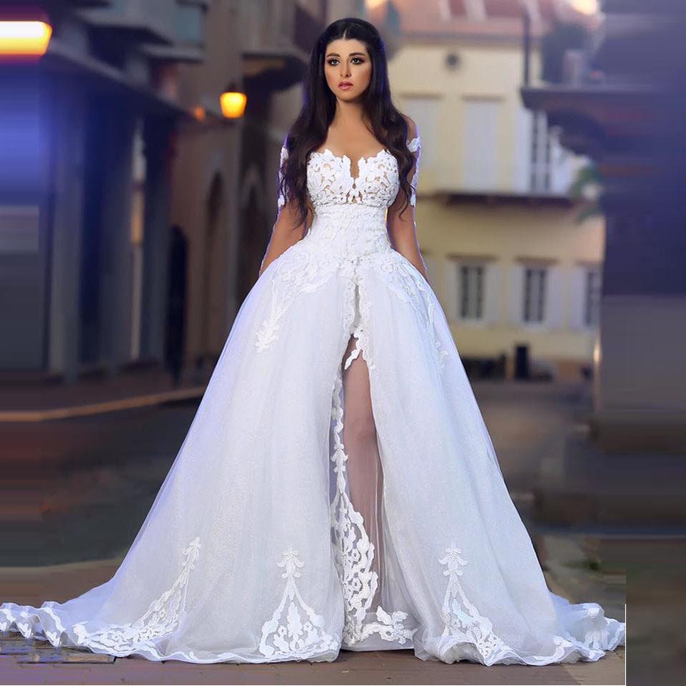 Unique Wedding Dresses: Romantic Ball Gown Unique Wedding Dresses Sheer Long