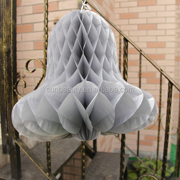 tissue paper silver wedding honeycomb bells