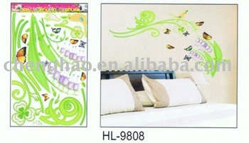 office festival decoration flower and butterfly wall stickers