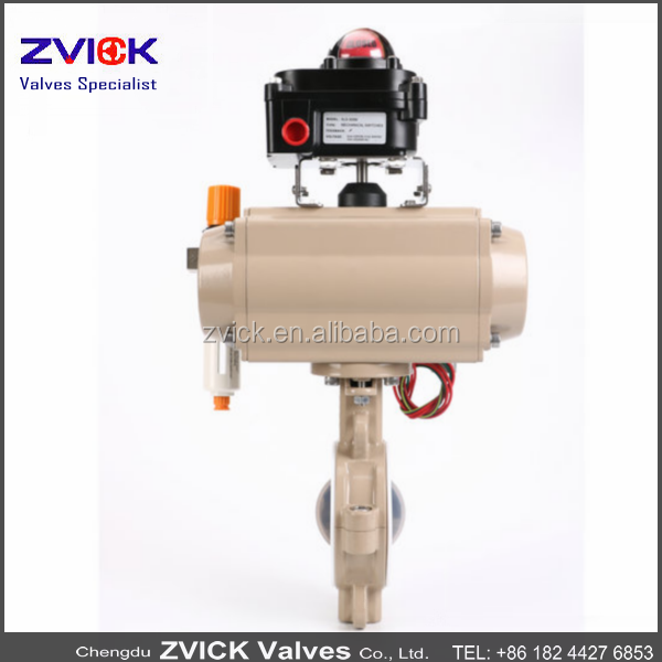 F4 lined electric flange fluorine lined butterfly valves