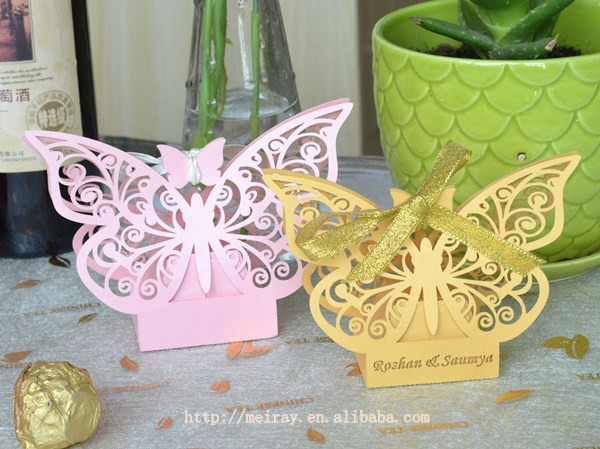 Baby Shower First Communion Laser Cut Favors Return Gift Box