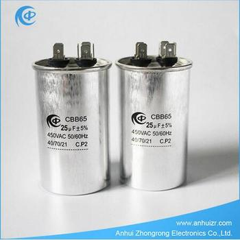 Cbb65 Air Conditioner Capacitor Ac Motor Run 30uf 35uf 40uf 45uf 50uf 60uf Price List