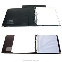Luxury Leather Ring Binder Manager Planner Organized Folder With Dividers