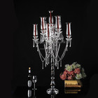 2016 wedding new candelabra with hanging crystals