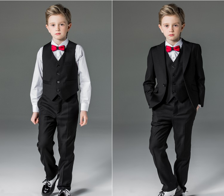 Elpa Designer 3 Piece Kids Wedding Suits Red Wholesale Kids Suits ...