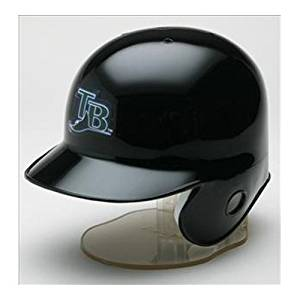 Tampa Bay Devil Rays 2007 Miniature Replica MLB Batting Helmet w/Left Ear Covered by Riddell
