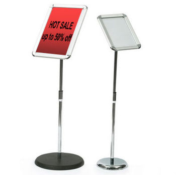 Round base floor standing adjustable menu holder Advocate Pedestal Sign Stand a3