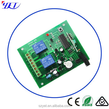 2 Ch 315mhz Dc 12v Rf Wireless Remote Control Controller/ Relay Switch/  Transmitter And Receiver Yet412ace - Buy Rf Wireless Remote Control