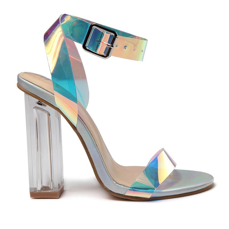 6cb0c2a8 Pequeño Moq gran tamaño de las mujeres zapatos de tacón alto tacón grueso  brillante vestido zapatos