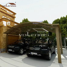 High wind resistance and snow load carport rubber flooring cover/ two parking car shed