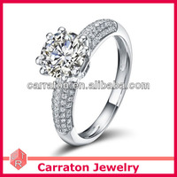 New Design Silver Jewelry OEM Engagement Rings With Name