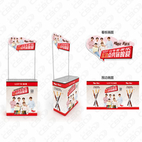 Foldable Pvc Portable Grocery Dome Table Advertising Promotion Counter