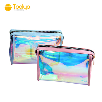 0f38da9ba03e 2017 New Arrival Fashion Laser Cosmetic Bags Colorful Women Transparent Pvc  Makeup Bag Waterproof Rainbow Clear Sundries Bag - Buy Waterproof Pvc ...